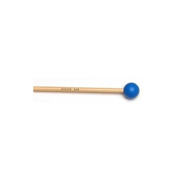 "92R Encore 1-1/8"" Blue Poly Ball Unwound Keyboard Mallets with Rattan Shafts"
