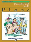 Alfred Basic Piano Notespeller Level 3 14557