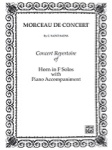 Morceau De Concert - Horn in French Solos with Piano Accompaniment TS0002