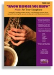 Know Before You Blow - Jazz Modes for Tenor Sax TS425