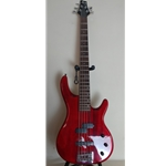 PJ5STRING  Alvarez Bass - Red 5 String