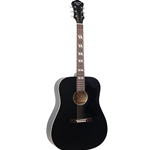RDS-7-MBK  Recording King Dirty 30's Series 7 Dreadnought Acoustic Guitar