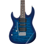 GRX70QALTBB  Ibanez Left Handed Electric Guitar - Transparent Blue Burst