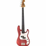 OSB-400C-TR  Oscar Schmidt Precision Bass - Transparent Red
