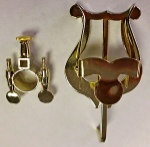 1815G  Bach Clamp-On Trumpet Lyre Brass