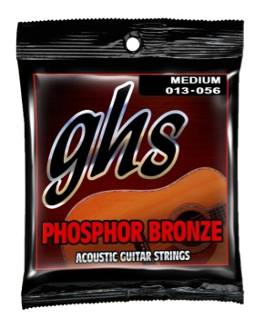 S335  GHS Phosphor Bronze Acoustic Guitar Strings -- Medium