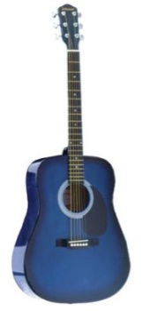 JG-610-BL  Johnson Acoustic Guitar - Blue