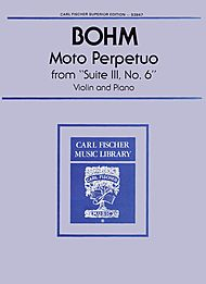 Moto Perpetuo from 'Suite III, No. 6' S3847